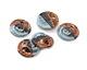 Greek Ceramic Raku Metallic Frosted Copper Small Nautilus Pendant 25mm
