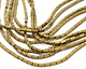 Antique Gold Hematite (matte) 4-Sided Tube 4x2mm