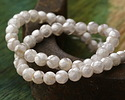 Tibetan (Dzi) Agate White & Natural Patterned Faceted Round 6mm