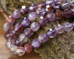 Purple Phantom Quartz (Auralite-23) Step Cut Round 6mm