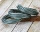 Metallic Sea Mist Round Leather Cord 2mm, 32 feet