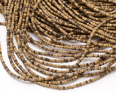 Light Brown Coconut Shell Rondelle 2.5-3x3.5mm
