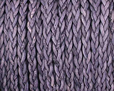 Natural Pacific Flat Braided Leather Cord 5mm