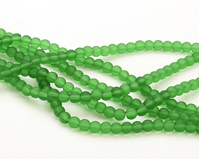 Shamrock Recycled Glass Round 6mm