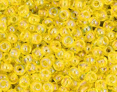 TOHO Transparent Rainbow Lemon Round 11/0 Seed Bead