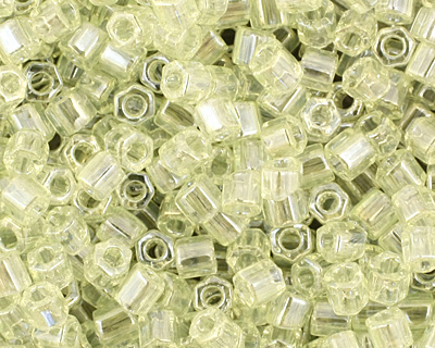 TOHO Transparent Lemon Lime Hex 11/0 Seed Bead