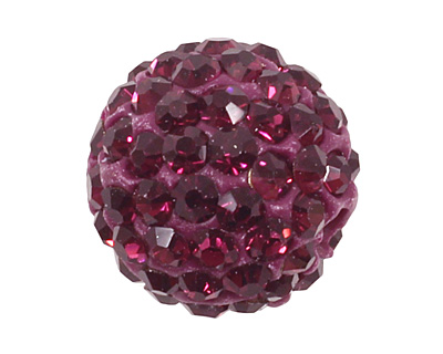Violet Pave Round 10mm