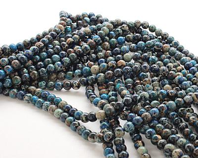 Midnight Blue Impression Jasper Round 6mm