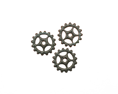 C-Koop Enameled Metal Steel Gray Small Sectioned Gear 16mm