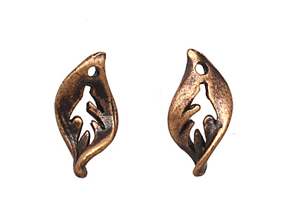 Ezel Findings Antique Copper (plated) Sweet Crab Leaf 5x10mm