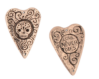 Green Girl Pewter Love Never Dies 28x19mm