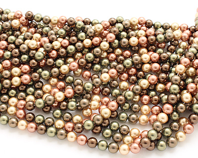 Harvest Shell Pearl Mix Round 8mm