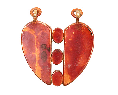 Patricia Healey Copper Big Heart Bezel Pendant 55x59mm