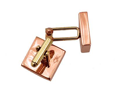Copper Square Bezel Cuff Link 17mm
