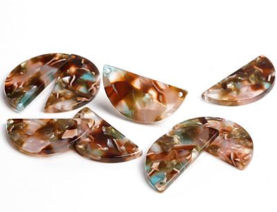 Zola Elements Mermaid Acetate Half Circle Link 30x15mm
