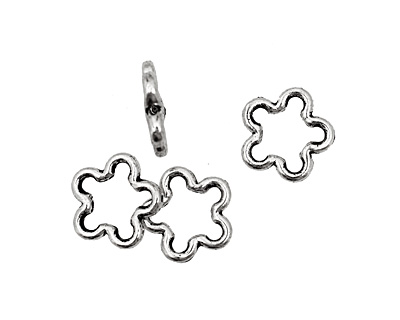 Pewter Open Daisy 16mm