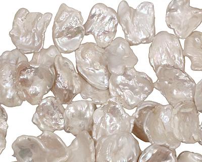Pearly White Keishi Drop 15-18x18-32mm