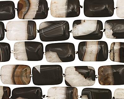 Black Sardonyx Thin Pillow 30x20mm