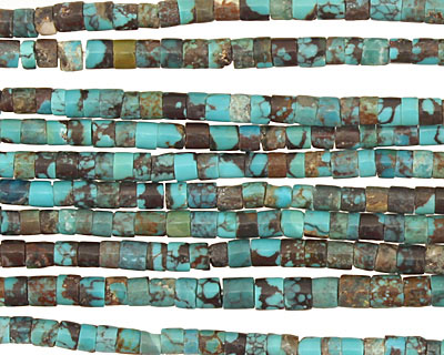 Chinese Turquoise (stab.) Heishi 3mm
