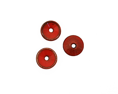 C-Koop Enameled Metal Medium Red Chip 3-4x12-13mm