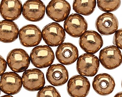 Czech Glass Bronze Round 4mm