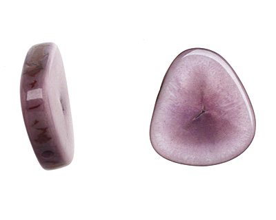Tagua Nut Violet Banana Chip 22-29x16-22mm