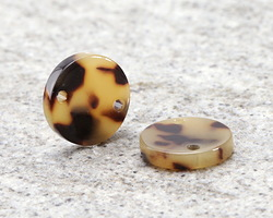 Zola Elements Light Tortoise Shell Acetate Coin Link 14mm