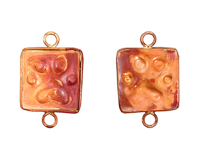Patricia Healey Copper Paw Print Large Vertical Link 21x33mm