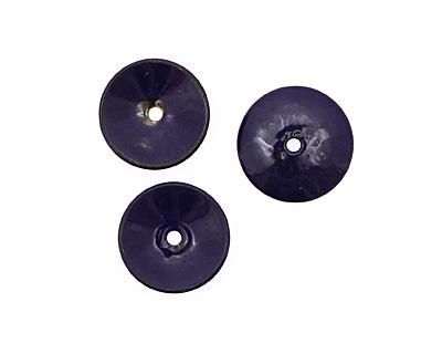 C-Koop Enameled Metal Dark Blue Disc 3-4x18-20mm