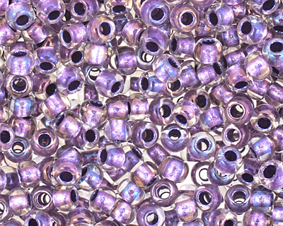 TOHO Rainbow Crystal (with Metallic Purple Lining) Round 11/0 Seed Bead