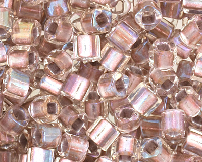 TOHO Crystal (with Rose Gold Lining) Cube 1.5mm Seed Bead