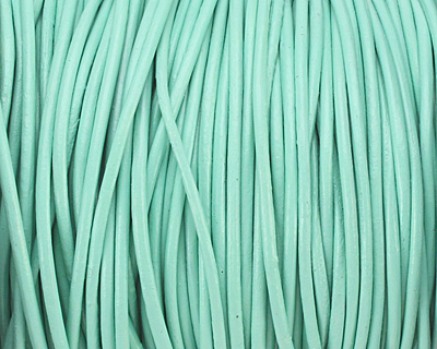 Mint Round Leather Cord 1.5mm