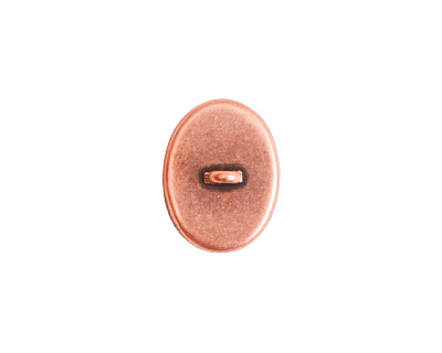 Nunn Design Antique Copper (plated) Small Oval Frame Button 13x16mm