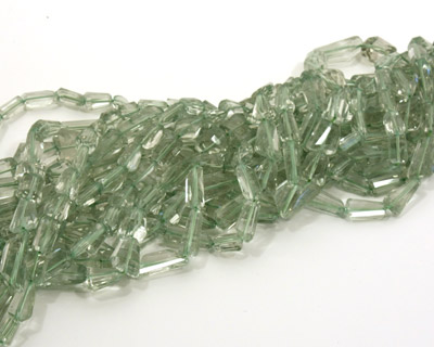 Prasiolite Faceted Nugget 9-18x8-12mm