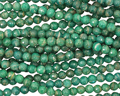 Russian Amazonite Faceted Round 6mm