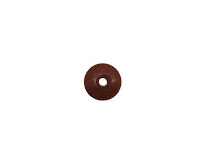 Tagua Nut Dark Brown Rondelle 3x8mm