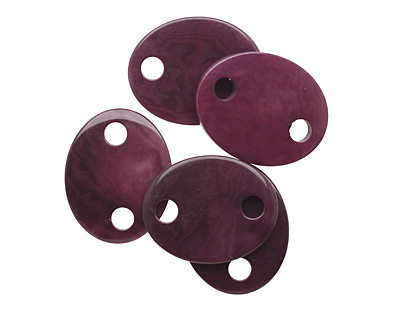 Tagua Nut Grape Oval Link 24x19mm