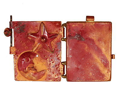 Patricia Healey Copper Moon & Star Locket 40x44mm