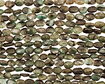 Emerald Rough Tumbled Nugget 7-10x6-7mm