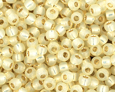 TOHO Milky Light Jonquil (with Silver Lining) Round 11/0 Seed Bead