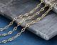 Satin Hamilton Gold (plated) Half Flat Delicate Cable Chain