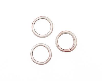 C-Koop Enameled Metal White Large Ring 16-17mm