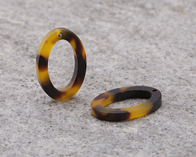Zola Elements Tortoise Shell Matte Acetate Oval Ring 15x22mm