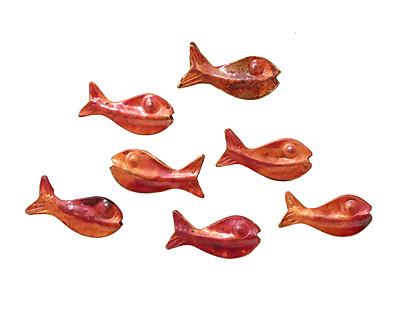 Patricia Healey Copper Fish 25x12mm