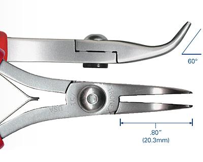 Tronex Bent Nose Fine Tips Pliers (ergonomic handle length)
