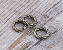 Antique Silver (plated) Twisted Jump Ring 6mm