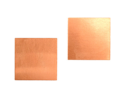 Copper Square Blank 29mm