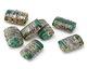 A Beaded Gift Dusted Jade Raku Small Kalera 17-18x11-12mm