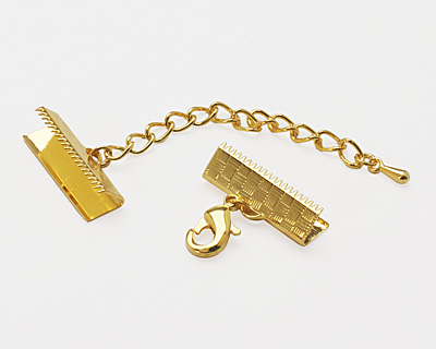 Artistic Wire Gold (plated) Mesh Clasp (w/ Extenstion Chain & Lobster Clasp) 18mm