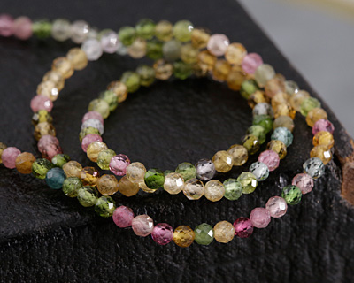 Tourmaline Faceted Round 2mm